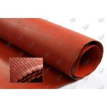 Color rojo del precio de fábrica Un paño recubierto silicón lateral de la fibra de vidrio