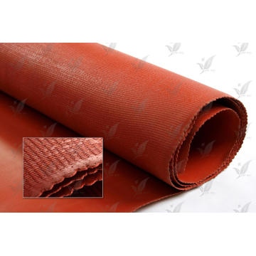 Tissu en caoutchouc en silicone en fibre de verre rouge
