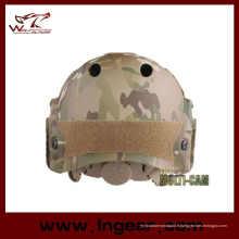 Sécurité militaire Camouflage casque tactique marine Pj casque avec visière