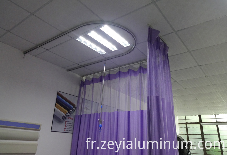 Hospital Ceiling Rail Aluminum Profiles