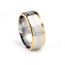 Latest simple men ring designs titanium stainless steel jewelry O ring