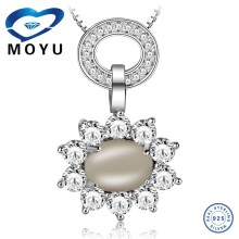Citrine big natural stone sun pendant necklace