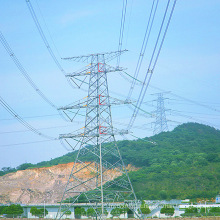 220kv Doubule Circuito Power Transmission Ângulo Torre de aço
