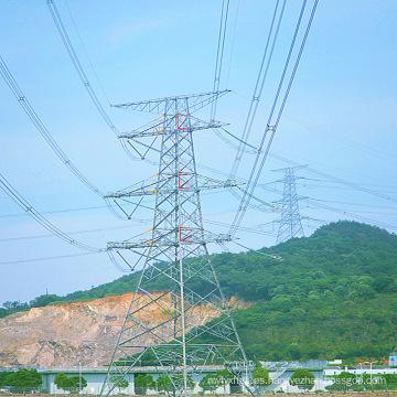 220kv Circuito de Doubule Energía de Transmisión Ángulo Torre de acero