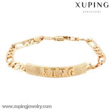 74610 Xuping tendências pulseiras de jóias, pulseiras de jóias de botão de pressão