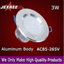 3W conduziu o downlight para baixo luz clara do painel Material de alumínio do PWB