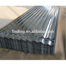 Folha de telhado de aço galvanizado China telhado ondulado folha