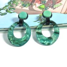 Custom color blue starry sky bling casual classic acrylic earrings