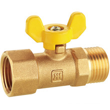 J207 Brass Gas Ball Valve, NPT Male Thread and Female thread, No leakage