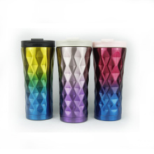 Diamond Stainless Steel Coffee Car Vacuum Cup
