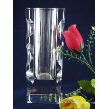 2014 nouveau design clair vase en cristal, vase en verre (ks15043)