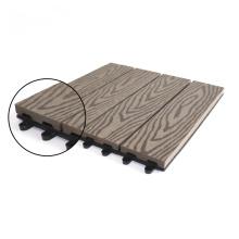 Riyadh DIY Deep Embossing Wood Plastic Composite Grid WPC Composite Tile Interlock Deck Outdoor Garden Grid Tiles 30cm X 30cm