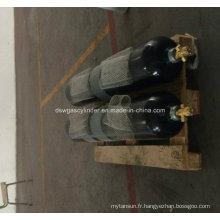 Cylindre à gaz azote 80L avec vanne