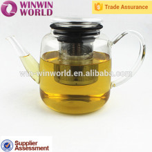 Elegant Heat Resistant Glass Tea Pot With Stainless Steel Tea Filter
