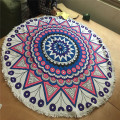 100% Organic Cotton Round Beach Towel Cotton