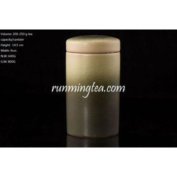 High quality Dark Green CeramTea canist/coffee canist set