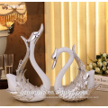 Couple gifts household garnish product polyresin material loving couple swan figure for indoor decoration