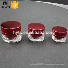 Frasco de empacotamento cosmético vermelho do processo UV de 15ml 30ml 50ml para o creme