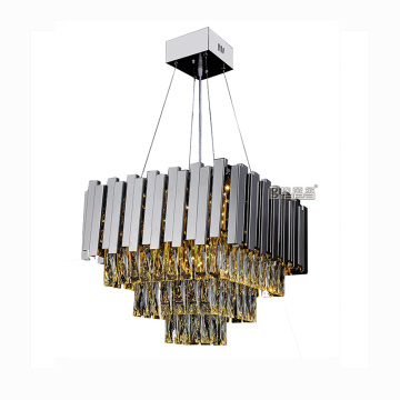 Stainless steel dan K9 kristal Modern LED Lighting Chandelier Luxury