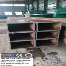 Peso ms sección hueca tubo cuadrado de acero