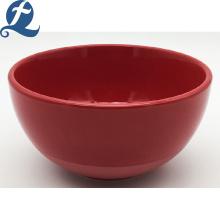 Nueva producción de sopa de fideos de restaurante de color sólido redondo de cerámica de superficie lisa