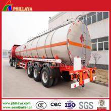 Tri-Eixo 21000 - 60000 litros de depósito de gasolina do reboque do aço carbono semi
