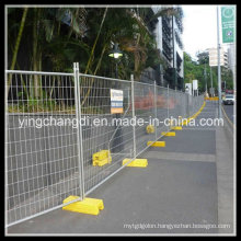 Galvanized After with PVC Powder Painting Temporary Fence