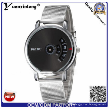 Yxl-736 Paidu Business Men Round Turntable Dial Stainless Steel Band Watch Silver