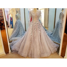 LS8894 Sexy keyhole tulle moroccan formal dress womens long sleeve evening gown models