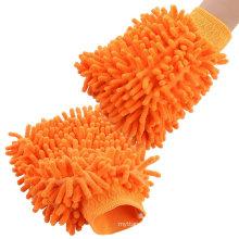Ventana de coche que se lava el mitt de guantes de microfibra de limpieza del hogar