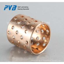 Rodamientos de bronce laminado con orificios de lubricación, base en estándar FB092, buje de suministro profesional del fabricante