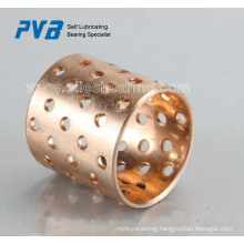 Rolled bronze bearings with lubrication holes,base on FB092 standard,manufacturer professional supply bush