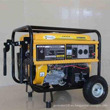 Bobina de cobre 100% 6000 vatios Generador de gasolina eléctrico de potencia 6kw 6kVA