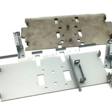 Procesamiento de chapa de perforación de metal de cerradura de puerta de aluminio