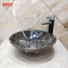 KKR customize marble sinks and basins brown artificial marble basin