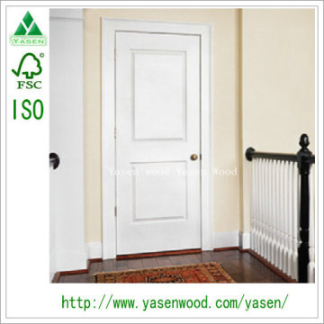 Porte de panneau en bois de peuplier de porte en bois de Bifold
