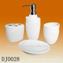 4 PCS ceramic bathroom set with embossment