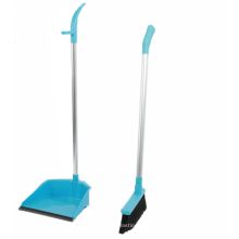 Long handle broom and dustpan set for household cleaning