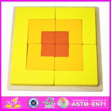 2014 Nouveau Enfants En Bois Puzzle Jeux Jouets, Populaire En Bois Bloc Jouet Puzzle Jeu, Vente Chaude Coloré Bébé Puzzle Jeu Jouets W13A033