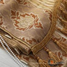Tejidos de cortina continua de poliéster de seda turca