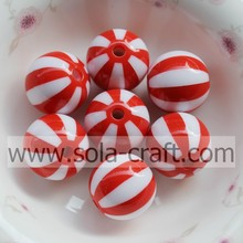 Red Watermelon Striped 12MM 500Pcs Decorative Curtains  Loose Charm Wholesale Shamballa Necklace Designs Gemstone Bead