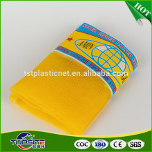 Yellow HDPE Ginger monofilament net bag/leno mesh bag for ginger