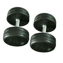 Fixed Black Rubber Dumbbell Rubber Dumbbell hex/ fitness equipment