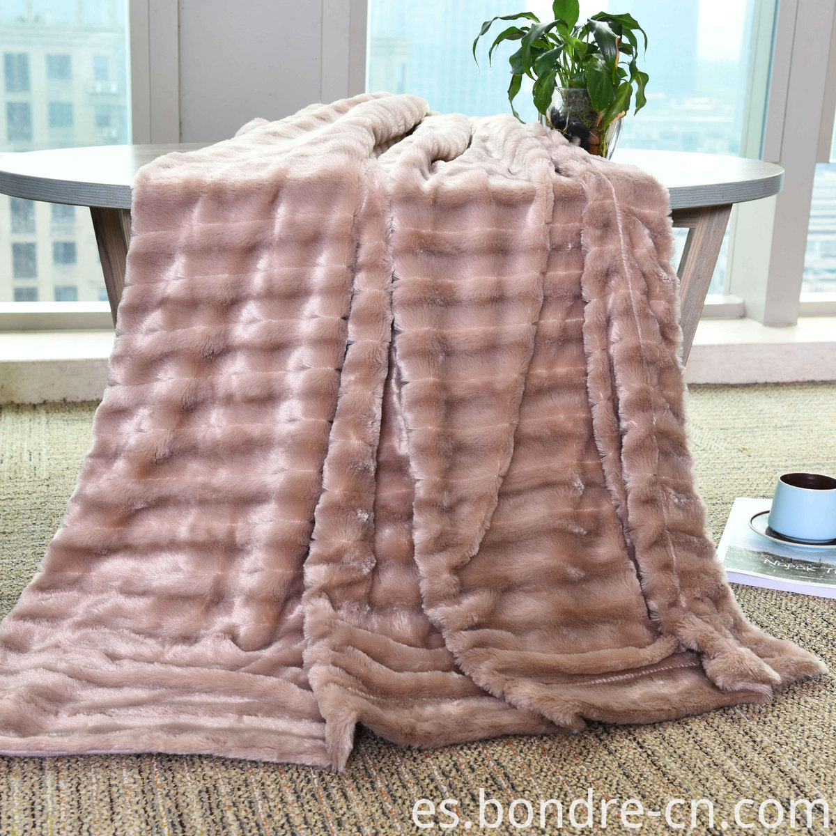 PV fleece double layers blanket (1)