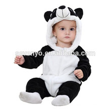 Soft baby Romper Animal Onesie Costume Cartoon Outfit Homewear sleep wear,flannel,cute panda ,cute hooded towel