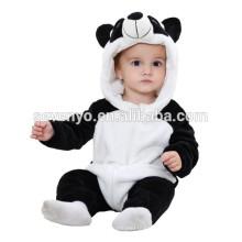 Soft baby Romper Animal Onesie Costume Cartoon Outfit Homewear sleep wear,flannel,cute panda ,cute hooded towel