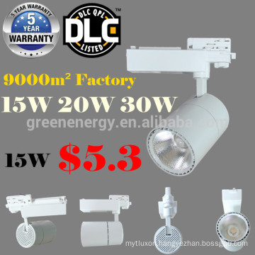 Cob track light15w 20w 30w led track light rail light luminaire 15W led COB track light fixtures for US and Canada