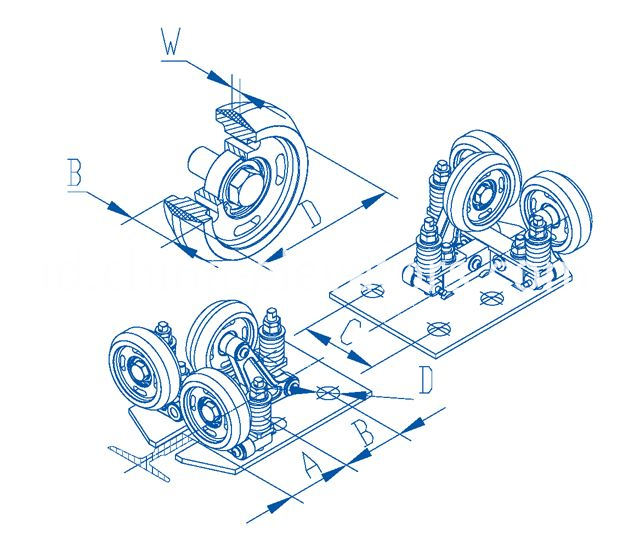 High Speed Roller Guide 6m/s