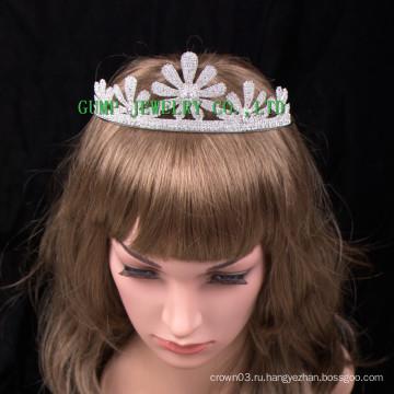 Красивые цветы дизайн короны женщин Crystal Tiara
