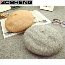 Женская мягкая теплая шерсть Beret Beanie Slouch Hats Cap